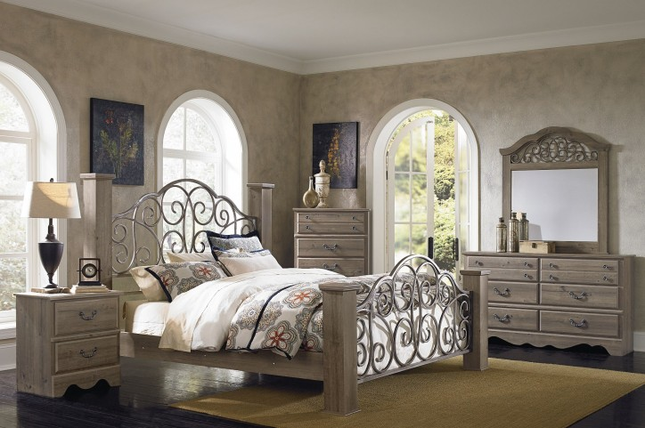 Timber Creek Weathered Grey Taupe Poster Bedroom Set