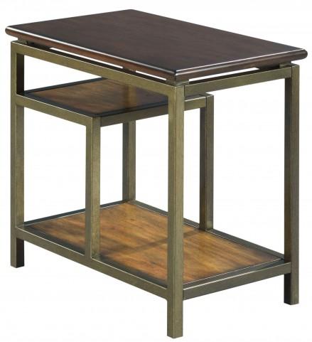 Zodiac Warm Brown Acacia Chairside Table