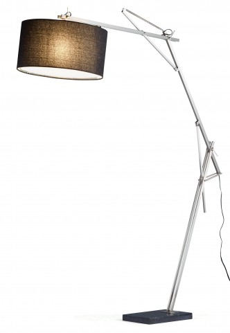Suffolk Satin Steel Arc Lamp