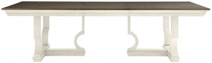 Coastal Living Oasis Saltbox White Moonrise Extendable Pedestal Dining Table