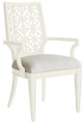 Coastal Living Oasis Saltbox White Catalina Arm Chair
