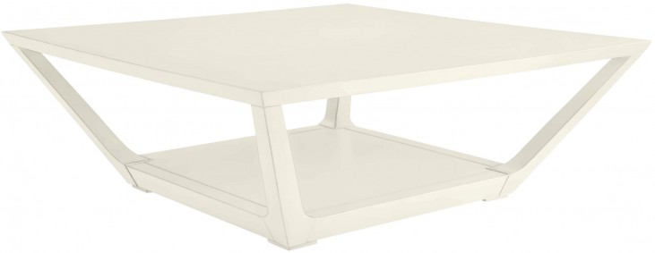 Coastal Living Oasis Saltbox White Poseidon Cocktail Table