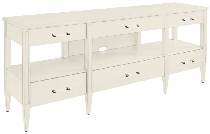 Coastal Living Oasis Saltbox White Mulholland Media Console