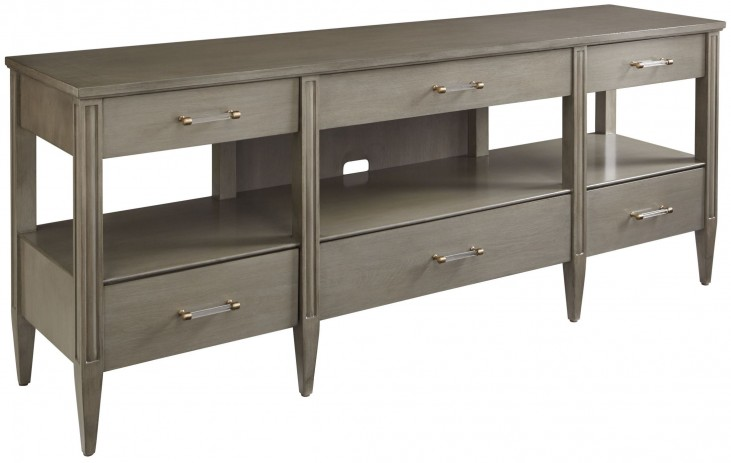 Coastal Living Oasis Grey Birch Mulholland Media Console