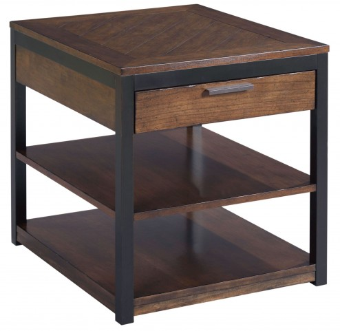 Franklin Warm Cherry Rectangular Drawer End Table