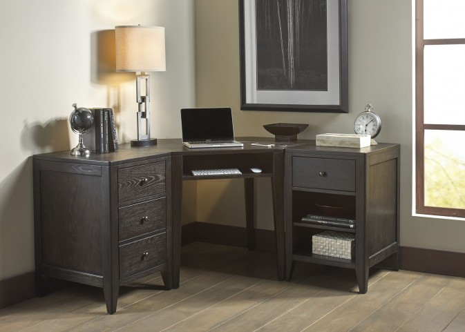 Autumn Oaks II Black Home Office Set