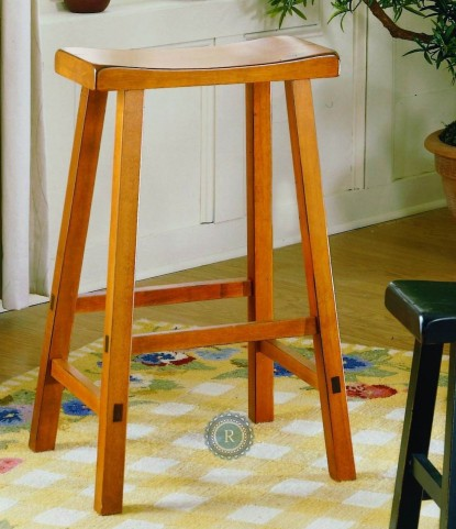 "Saddleback Oak 18"" Oak Stool"