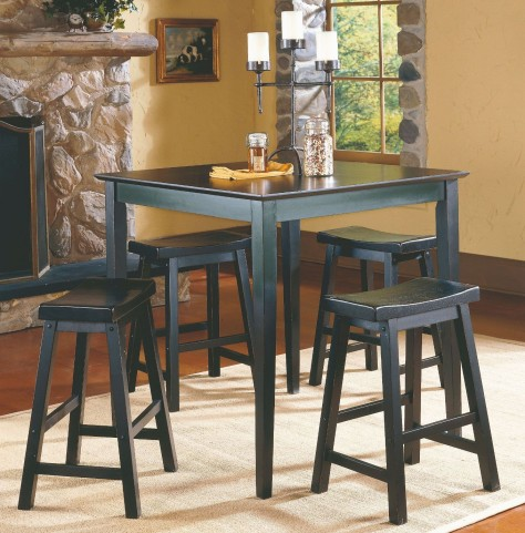 Saddleback Black Dinette Set