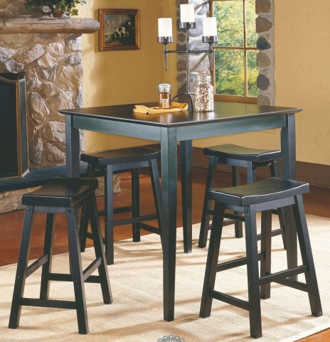 Saddleback Black 5-Piece Pack Counter Height Set