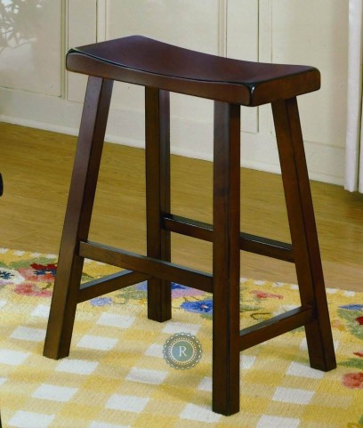 "Saddleback 24"" Distressed Cherry Stool"