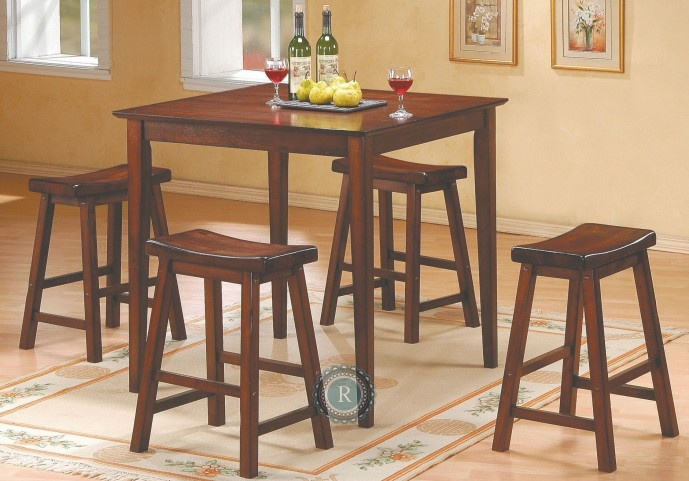 Saddleback Cherry 5-Piece Pack Counter Height Set