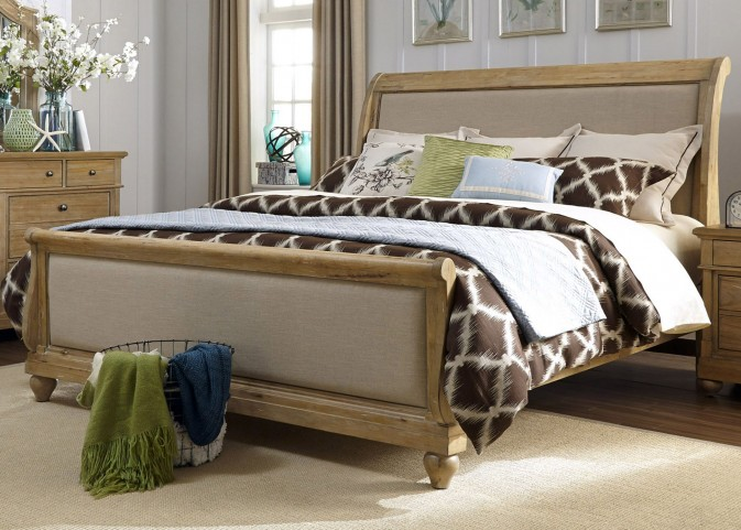 Harbor View Sand Queen Sleigh Bed