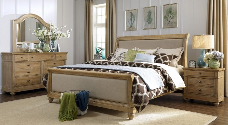 Harbor View Sand Sleigh Bedroom Set