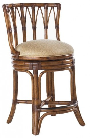 Island Estate Plantation Brown South Beach Swivel Counter Stool