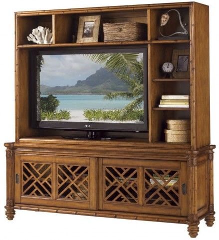 Island Estate Plantation Brown Nevis Entertainment Center