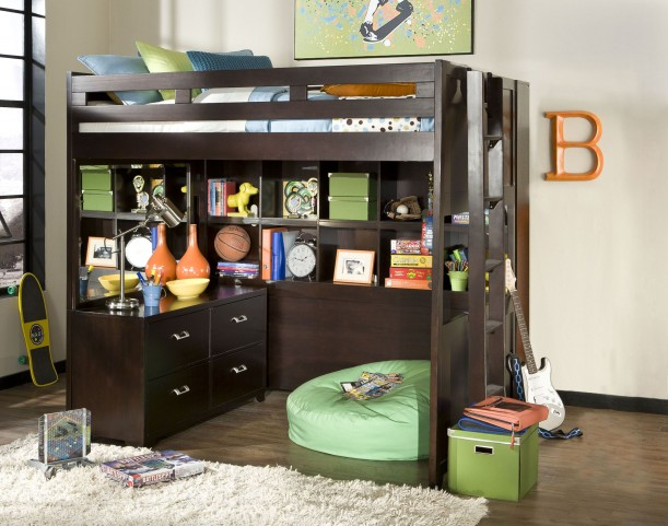 Smart Solutions Merlot 5 Piece Bunk Bedroom Set