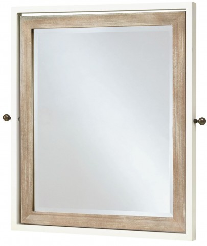 MyRoom Parchment and Gray Tilt Mirror