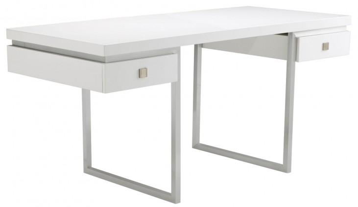 Bentley High Gloss White Desk