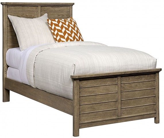 Driftwood Park Sunflower Seed Twin Panel Bed