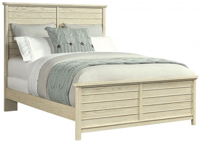 Driftwood Park Vanilla Oak Full Panel Bed
