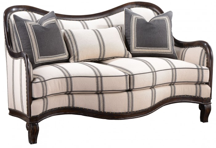 Empyrean Sky Carved Frame Loveseat