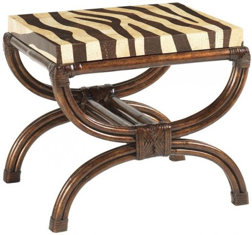 Royal Kahala Dark Kona Striped Delight Accent Table