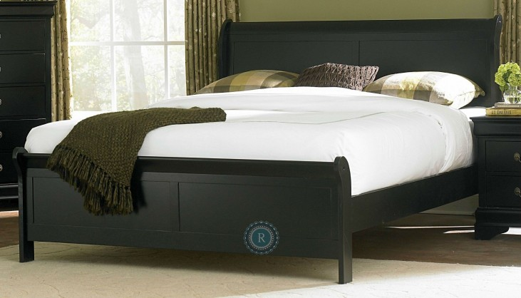 Marianne Black Queen Sleigh Bed