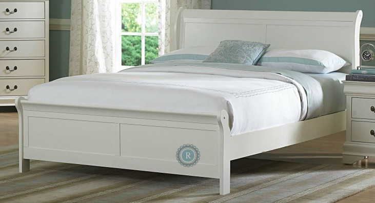 Marianne White Queen Sleigh Bed