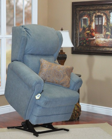 Abby Blue Wall-a-way Reclining Lift Chair With lumbar Pillow