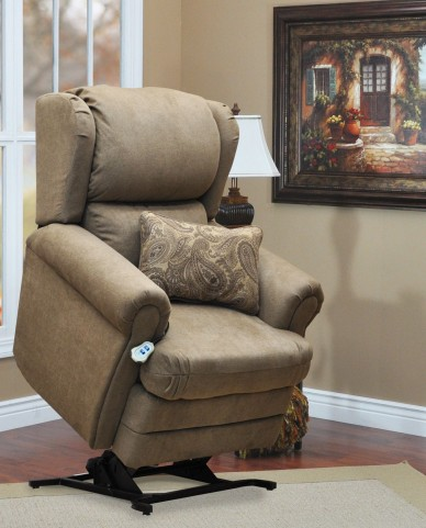 Abby Tan Wall-a-way Reclining Lift Chair With lumbar Pillow