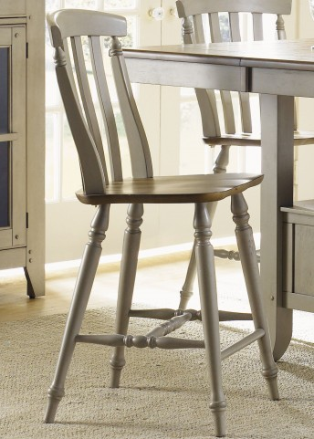 Al Fresco Driftwood and Taupe Double X Back Counter Chair