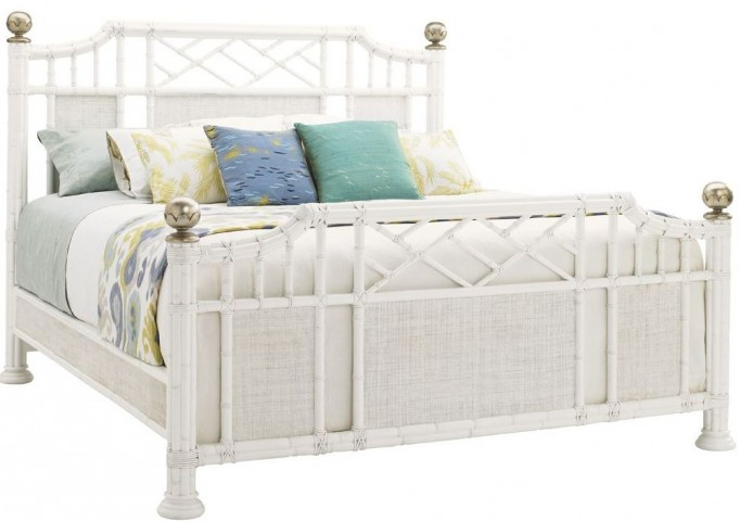 Ivory Key Pritchards Bay Cal. King Panel Bed