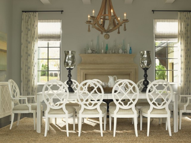 Ivory Key Castel Harbour Rectangular Extendable Dining Room Set