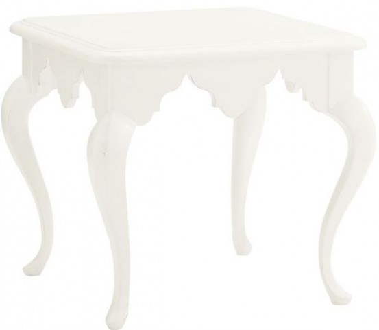 Ivory Key Cumberland Square Lamp Table