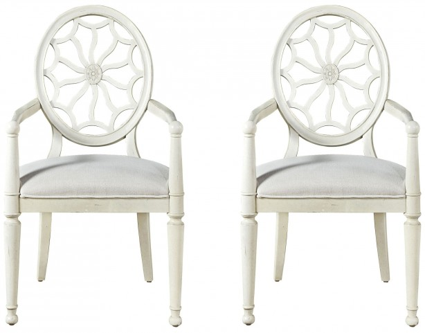 Sojourn Summer White Arm Chair Set of 2