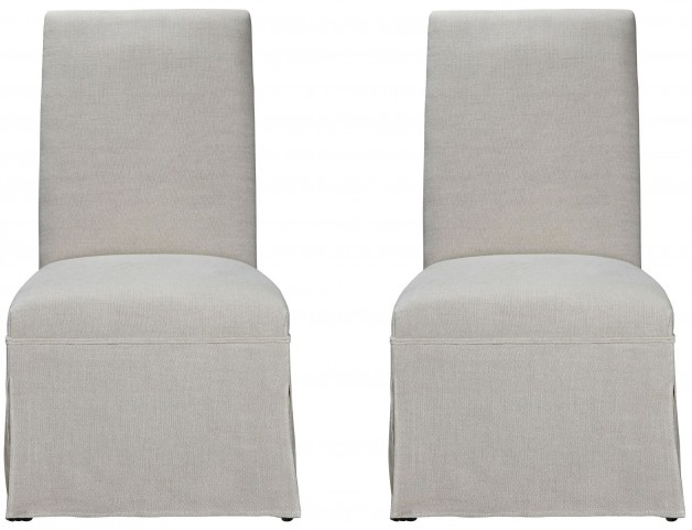 Sojourn Upholstered Summer White Side Chair Set of 2