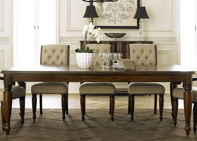Cotswold Cinnamon Extendable Rectangular Leg Dining Table