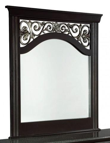 Madera Ebony Black Panel Mirror