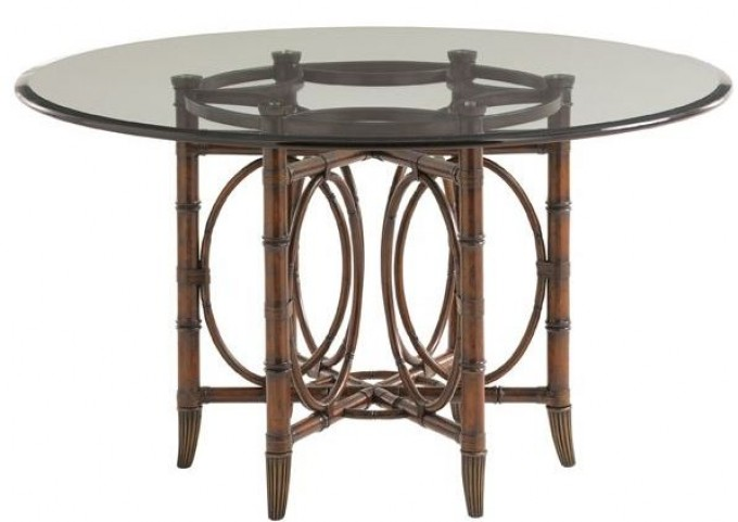"Landara Coral Sea Rattan 54"" Round Dining Table"
