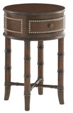Landara Bandera Leather Accent Table