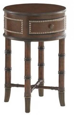 Landara Bandera Leather Accent Table