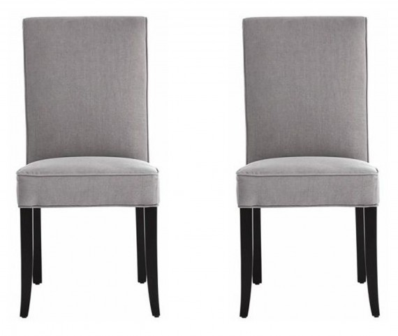Baron Dining Chair In Vintage Linen Grey Set of 2