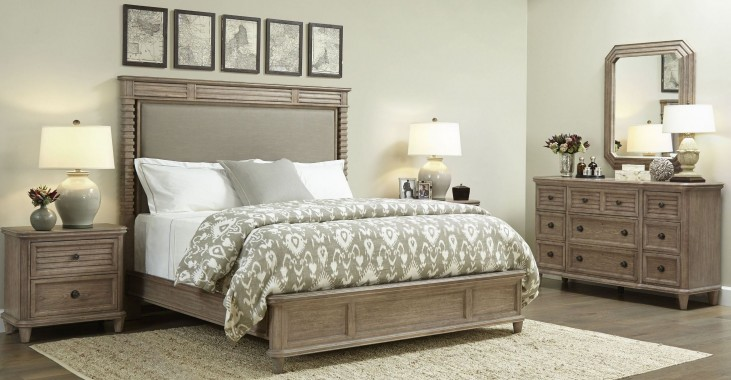 Hadley Rafter Upholstered Platform Bedroom Set