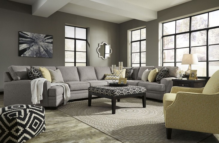 Cresson Pewter LAF Large Cuddler Sectional