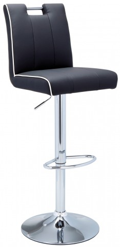 Kalvin Adjustable Barstool in Black/White