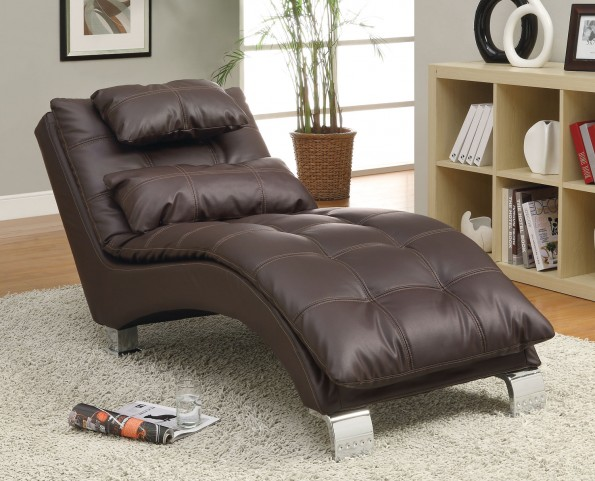 550076 Dark Brown Chaise