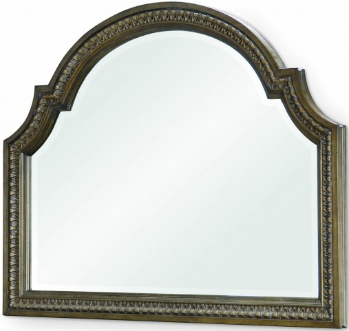 Renaissance Waxed Oak Arched Dresser Mirror