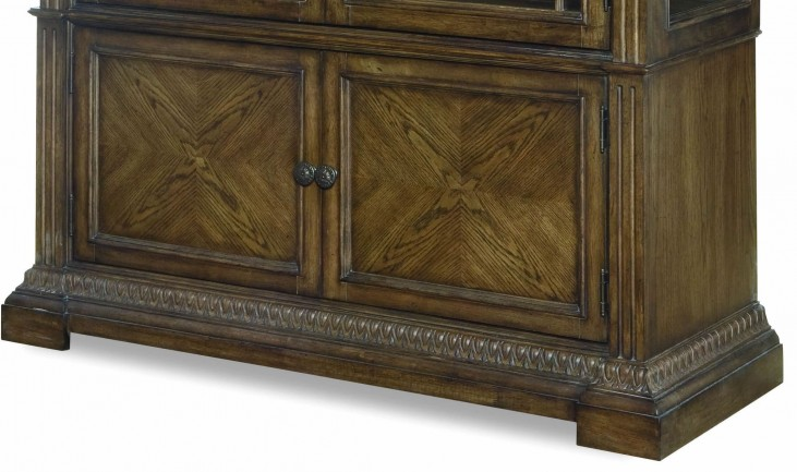 Renaissance Waxed Oak Display Cabinet Base