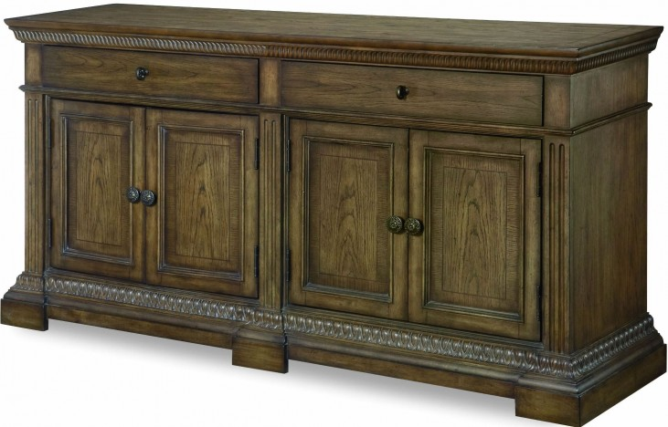 Renaissance Waxed Oak 2 Drawer Buffet