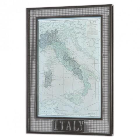 Italy Map Framed Art
